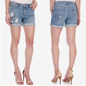 Lucky Brand Roll Up Star Patch Jean Shorts